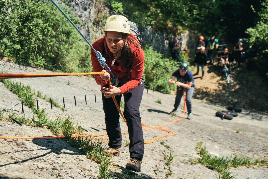 Foto: Mei Lan aan het klimmen